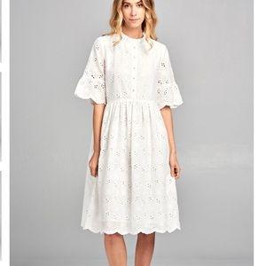 Import Dress with Ruffle Neckline